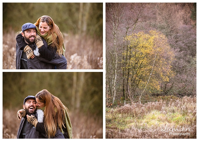 Autumn pre-wedding photoshoot in Derbyshire