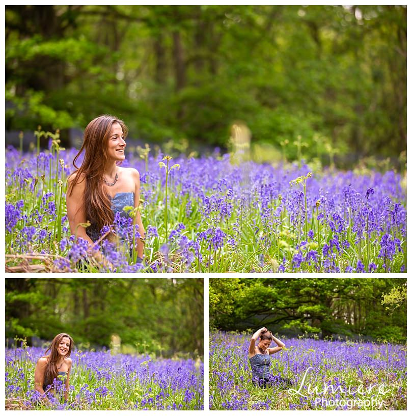 un portraits in the bluebells woods in Loughborough