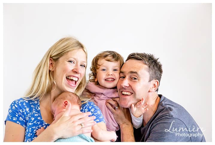 Newborn photoshoot with sibling Barrow upon Soar- the whole family