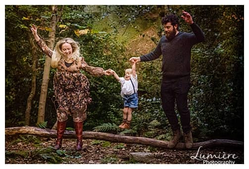 family photoshoot with a two year old in Yorkshire