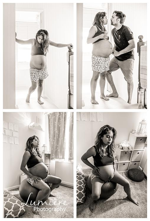 home birth photography in leicester- labour